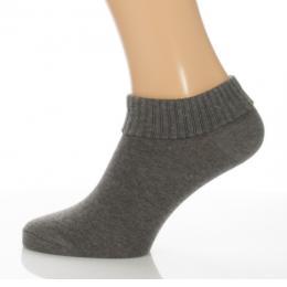 Sport visszahajtós zokni - melírozott szürke