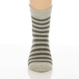 Gyerek zokni - Melír szürke csíkos