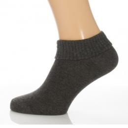 Sport visszahajtós zokni - melírozott sötétszürke